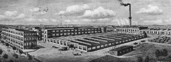 Die Prestowerke in der Scheffelstraße in Chemnitz im Jahr 1911 (Quelle: http://www.presto-chemnitz.de)